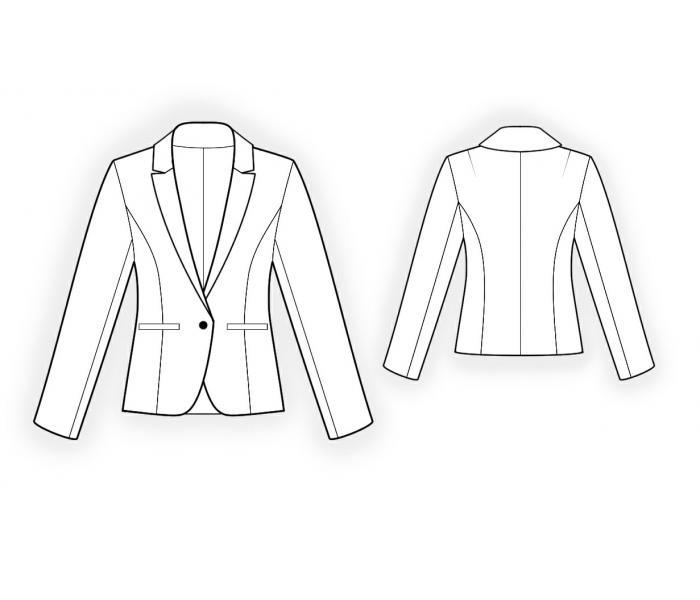 Проектирование промышленной системы моделей женских пиджаков из полушерстяной ткани