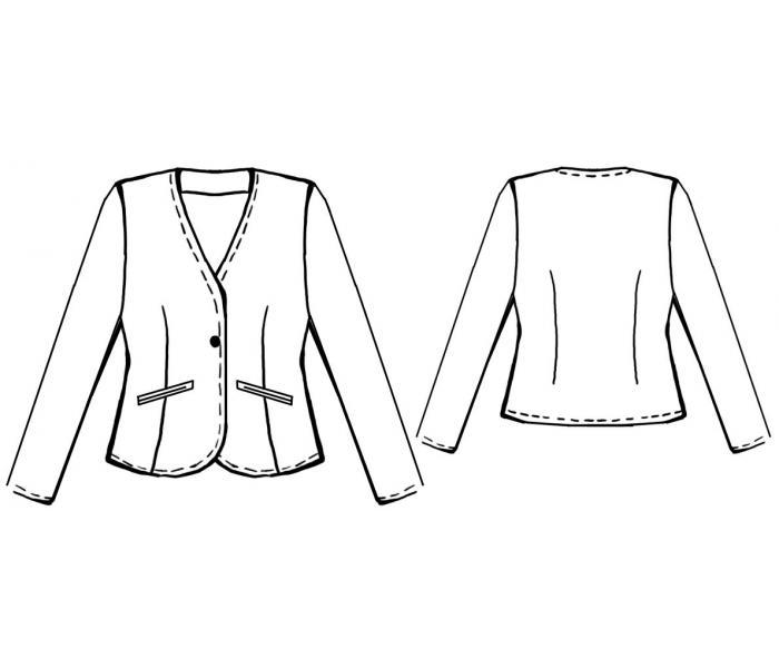 Построение базовой выкройки пиджака, моделирование выкройки пиджака с бочком и