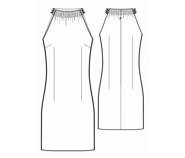 Выкройка - трикотажное платье с хомутом. Часто можно увидеть такую картину, что
