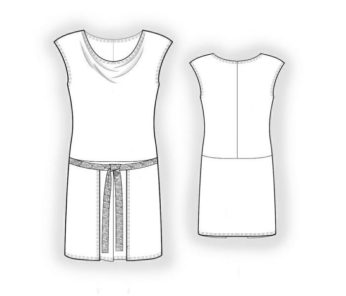 Простые выкройки платья-туники в 2014 году - своими руками
