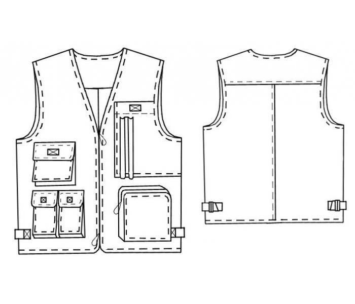 Выкройка v-133: мужской жилет В мужском гардеробе всегда найдется место для стильной жилетки