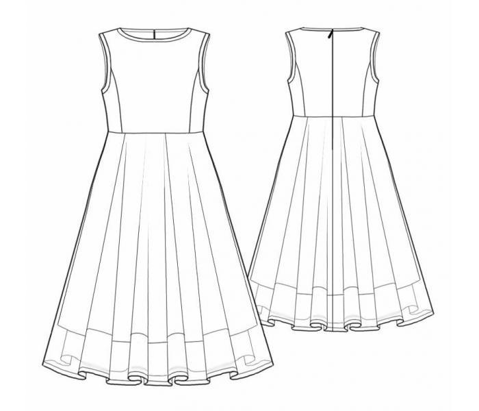 Описание: b Выкройка нарядного пышного платья Новая выкройка детского капюшона.Как сшить детское бальное